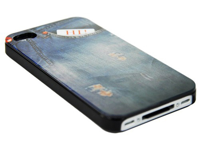 Denim Jeans Case Hoesje voor iPhone 4/4S