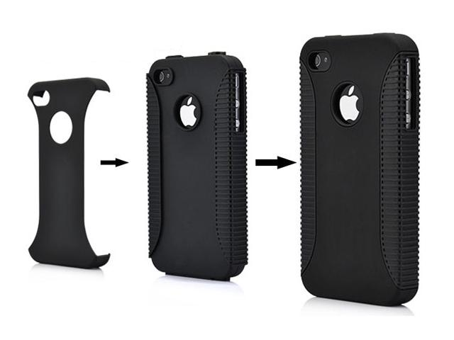 DuoProtect Silicon Hard Case voor iPhone 4/4S