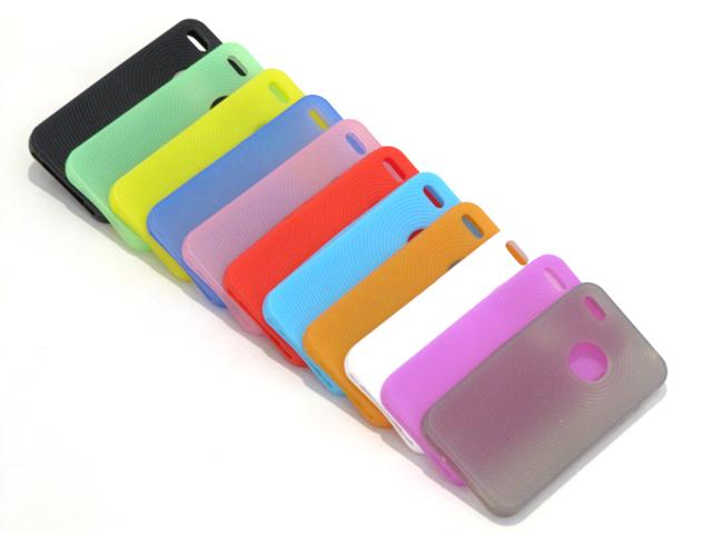 Fingerprint Silicone Skin voor iPhone 4/4S