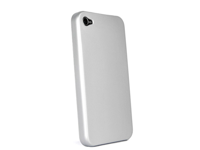 Frosted Back Case Hoes voor iPhone 4