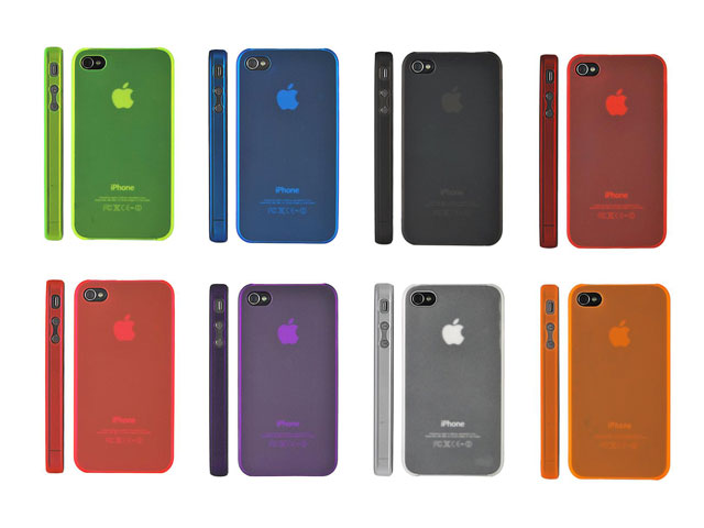 Frosted Crystal Case Hoes voor iPhone 4