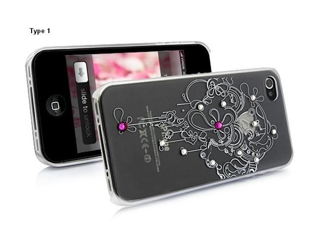 Frosted Crystals Elegant Case voor iPhone 4/4S