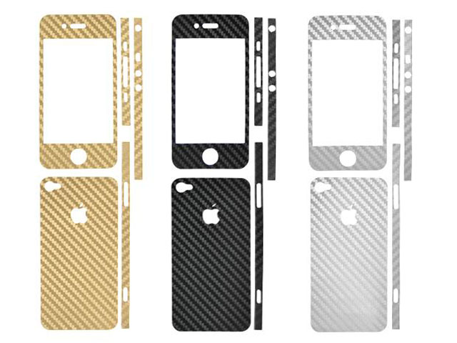 Carbon Full Body Skin Guard voor iPhone 4/4S