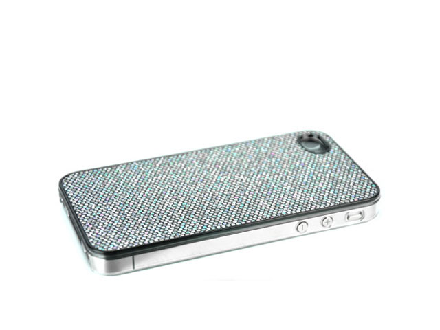 Glittery Disco Back Case Hoes voor iPhone 4