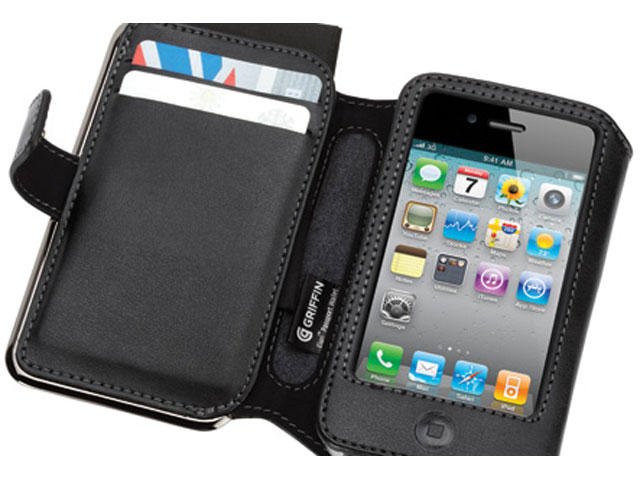 Griffin Elan Passport Zwart Leren Case iPhone 4/4S