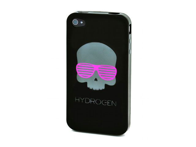 Hydrogen Skull TPU Soft Case Hoes voor iPhone 4
