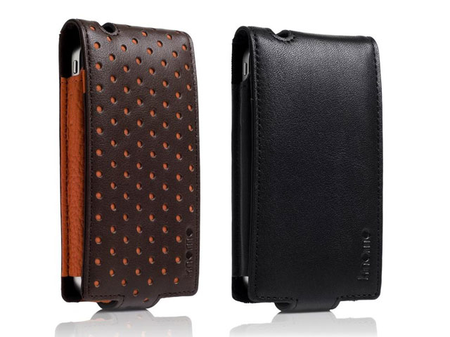 Knomo Leather Flip Case voor iPhone 4/4S