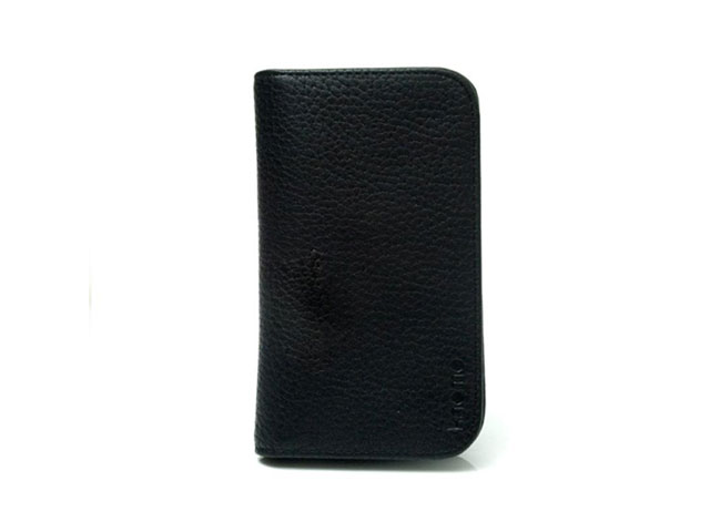 Knomo Leather Wallet Sleeve Case Hoes voor iPhone