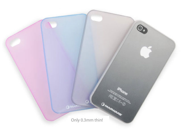0.35mm Marblue Membrane UltraThin Case voor iPhone 4/4S