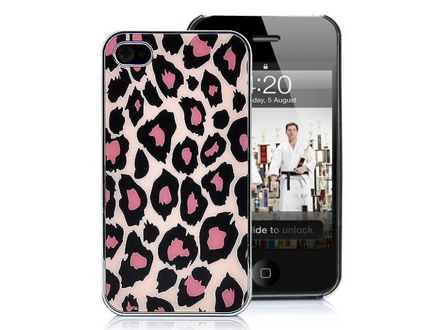 Deluxe Pink Panther Back Case Hoes voor iPhone 4/4S