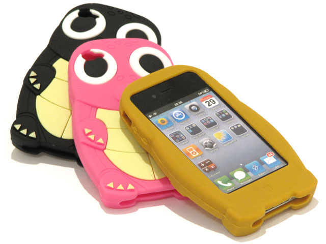 Turtle Kid-Proof Silicone Skin Case Hoes voor iPhone 4