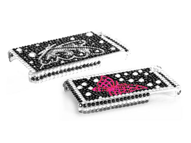 Butterfly Diamond Case Hoes voor iPhone 4/4S