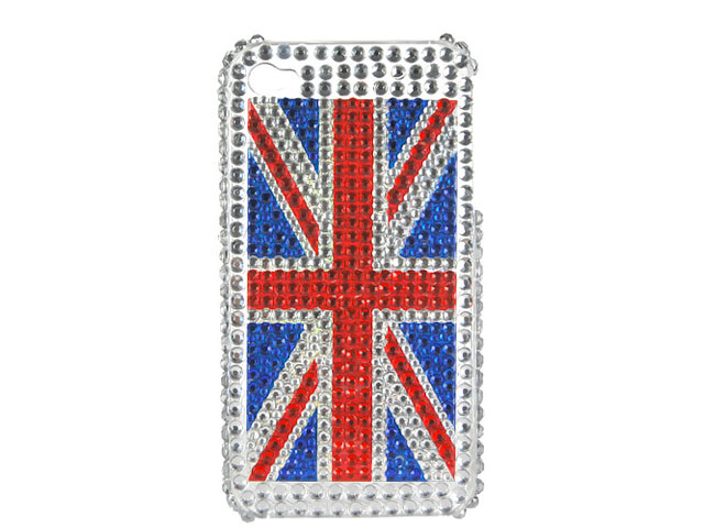Great Brittain Diamond Case Hoes voor iPhone 4/4S