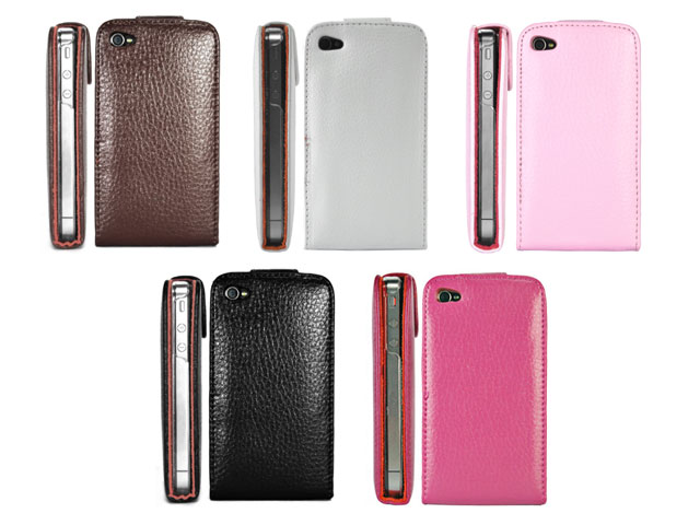 Exclusive Leather Flip Case voor iPhone 4/4S