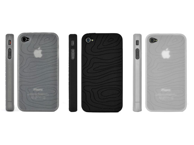 Grip Groove Silicone Hoes voor iPhone 4