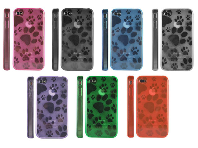 Doggy Series Polymer Case Hoes voor iPhone 4