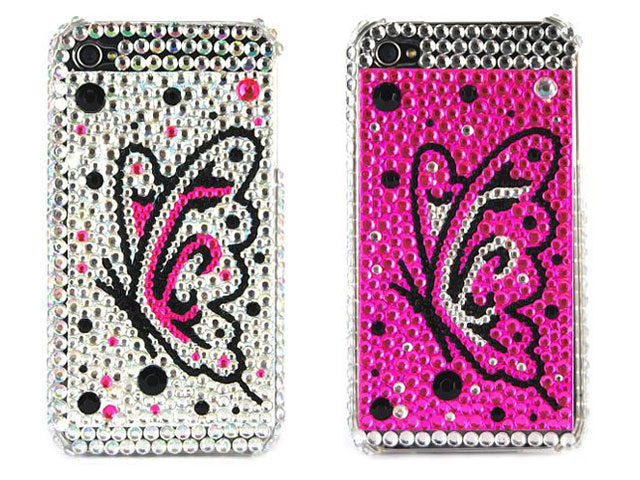 Colorful Butterfly Diamond Case voor iPhone 4/4S