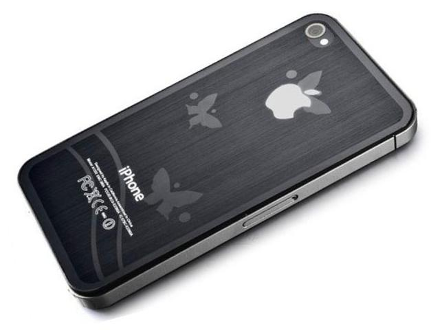 3D Butterflies Bodyprotector voor iPhone 4/4S