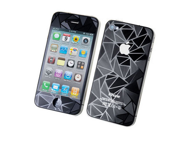 3D Diamond Bodyprotector voor iPhone 4/4S