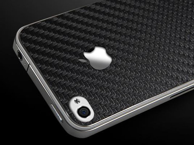 Carbon Effect Skin Guard voor iPhone 4/4S