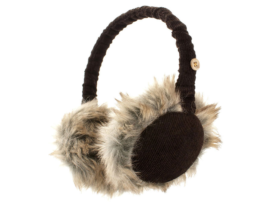KitSound Audio Earmuffs Button - Koptelefoon Oorwarmers Bruin