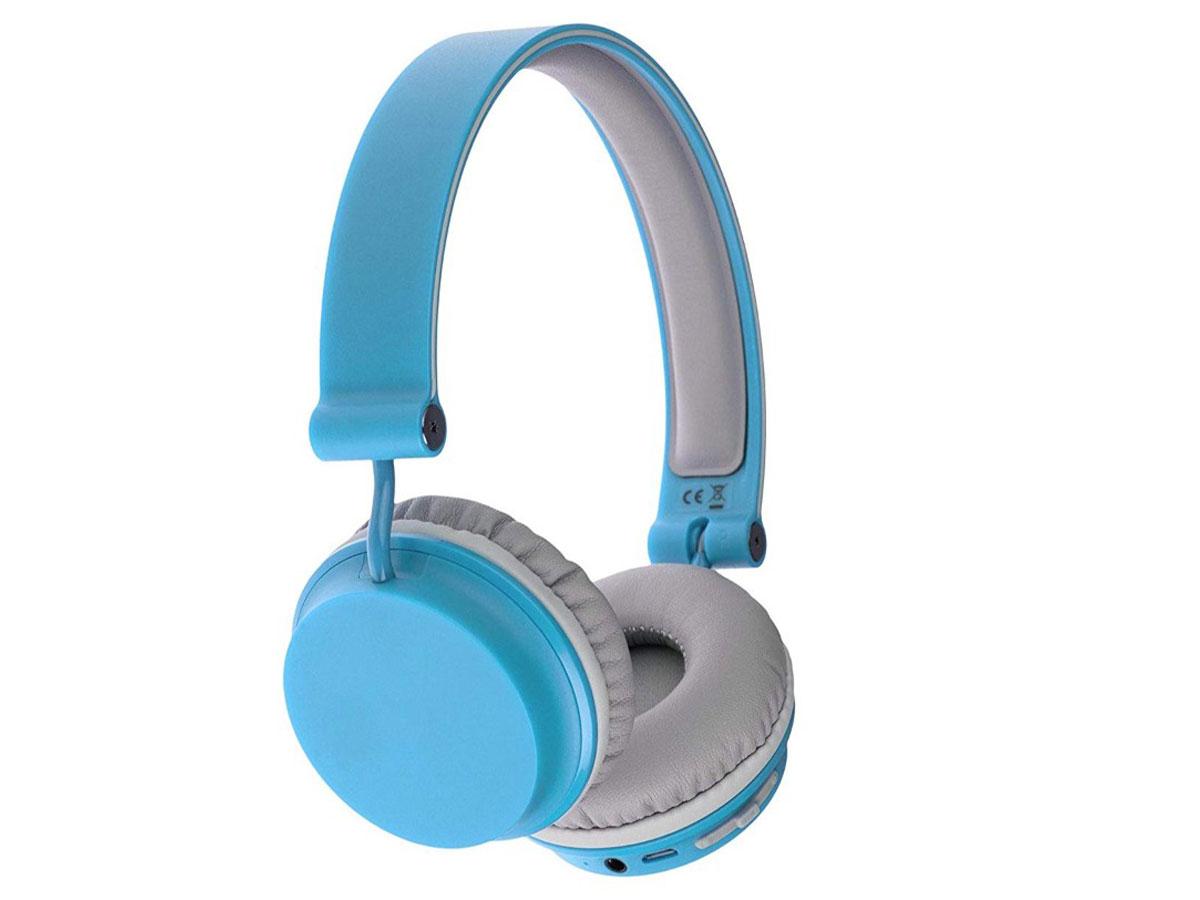 Kitsound Wireless Bluetooth Headphones Koptelefoon Blauw