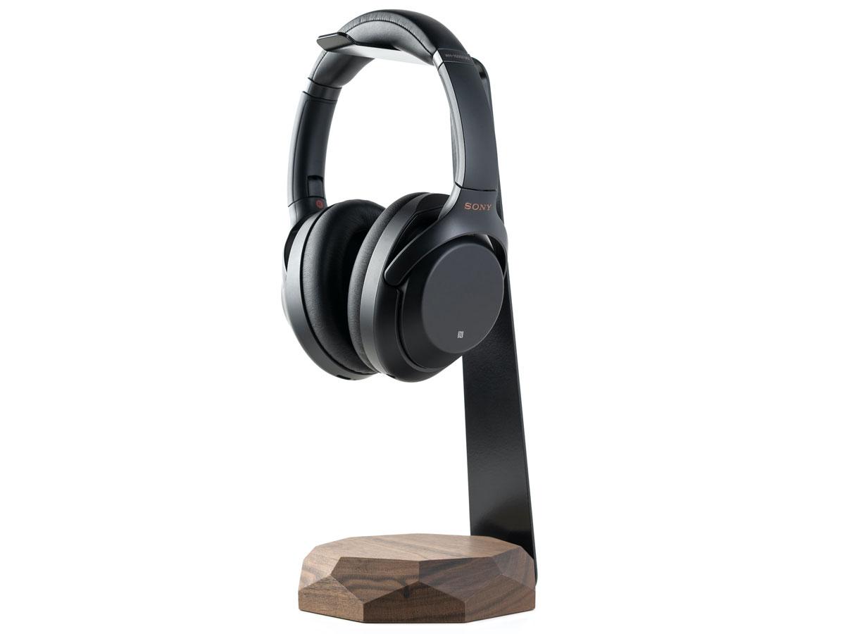 Oakywood 2 in 1 Headphone Stand met Draadloze Oplader Walnut