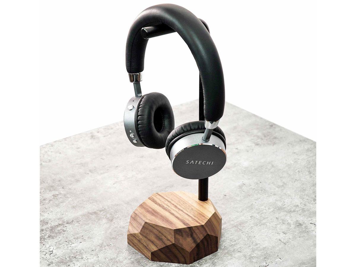 Oakywood Headphone Stand Walnut - Houten Koptelefoon Standaard