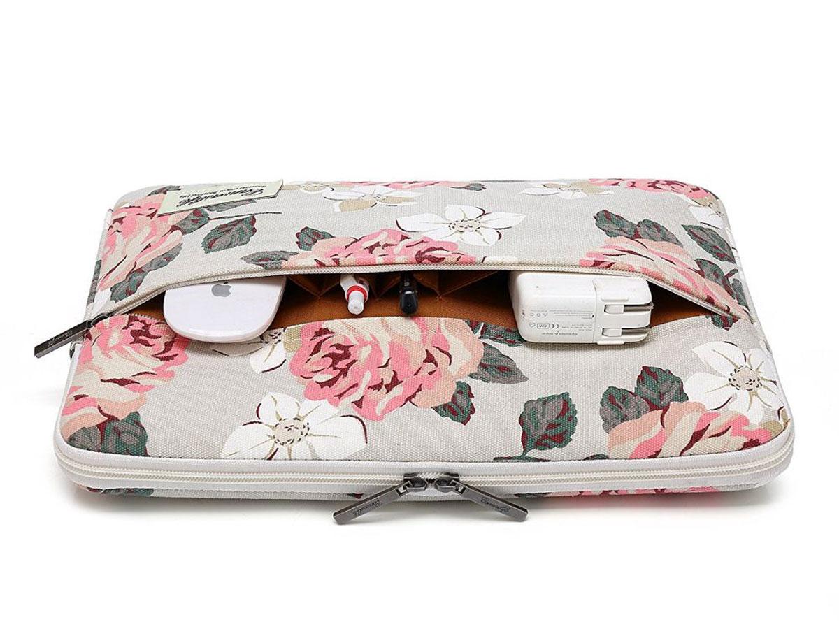 Canvaslife Floral Laptop Sleeve Grey - 13