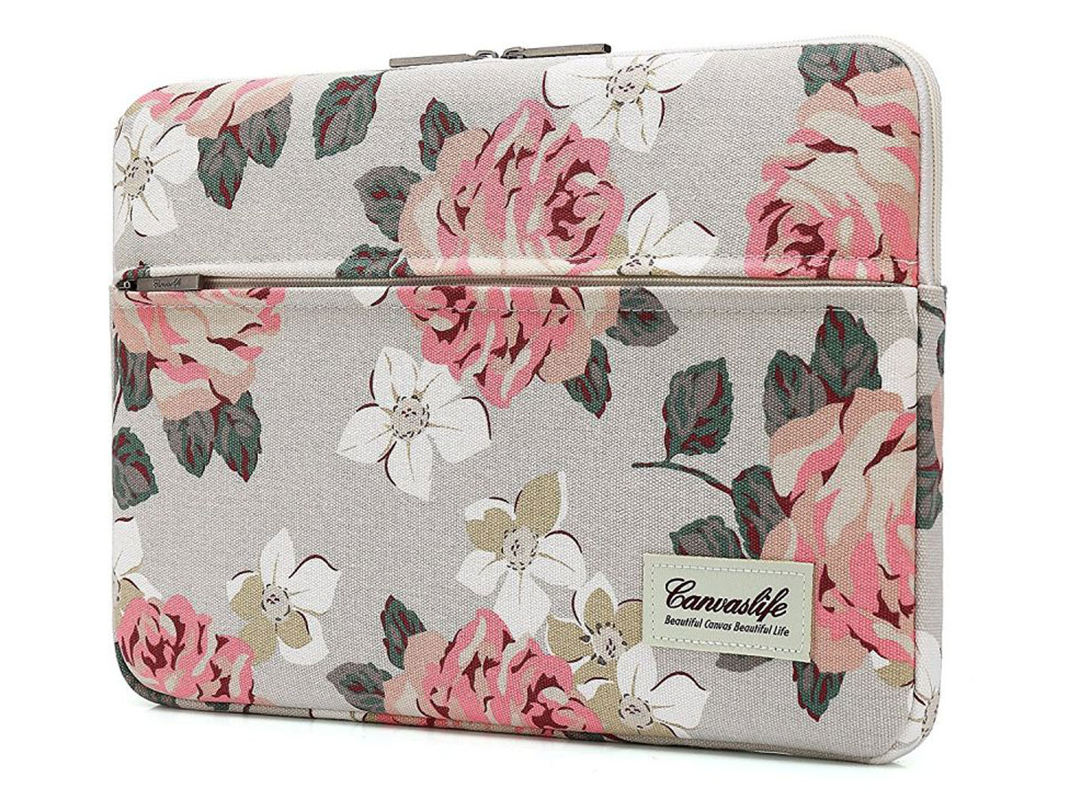 Canvaslife Floral Laptop Sleeve Grey - 15