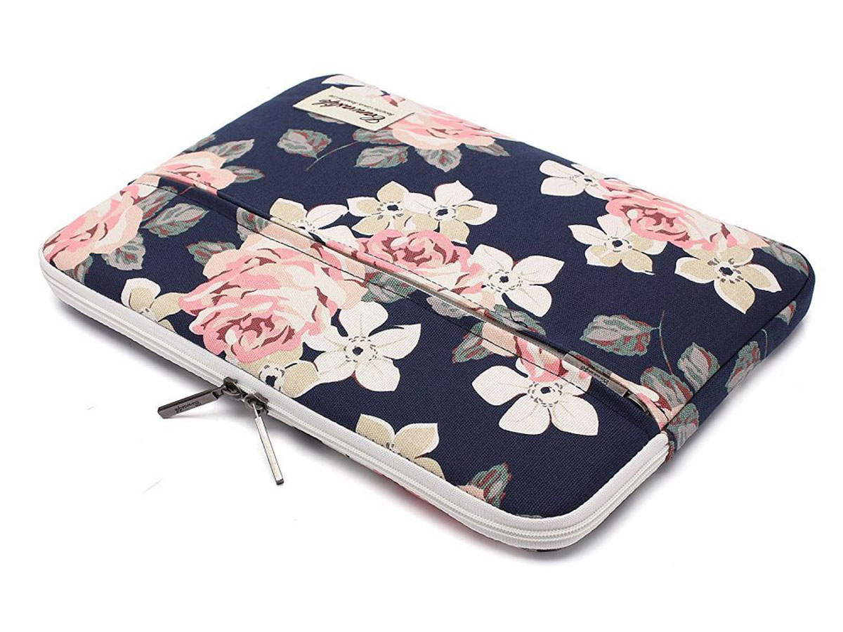Canvaslife Floral Laptop Sleeve Navy - 13