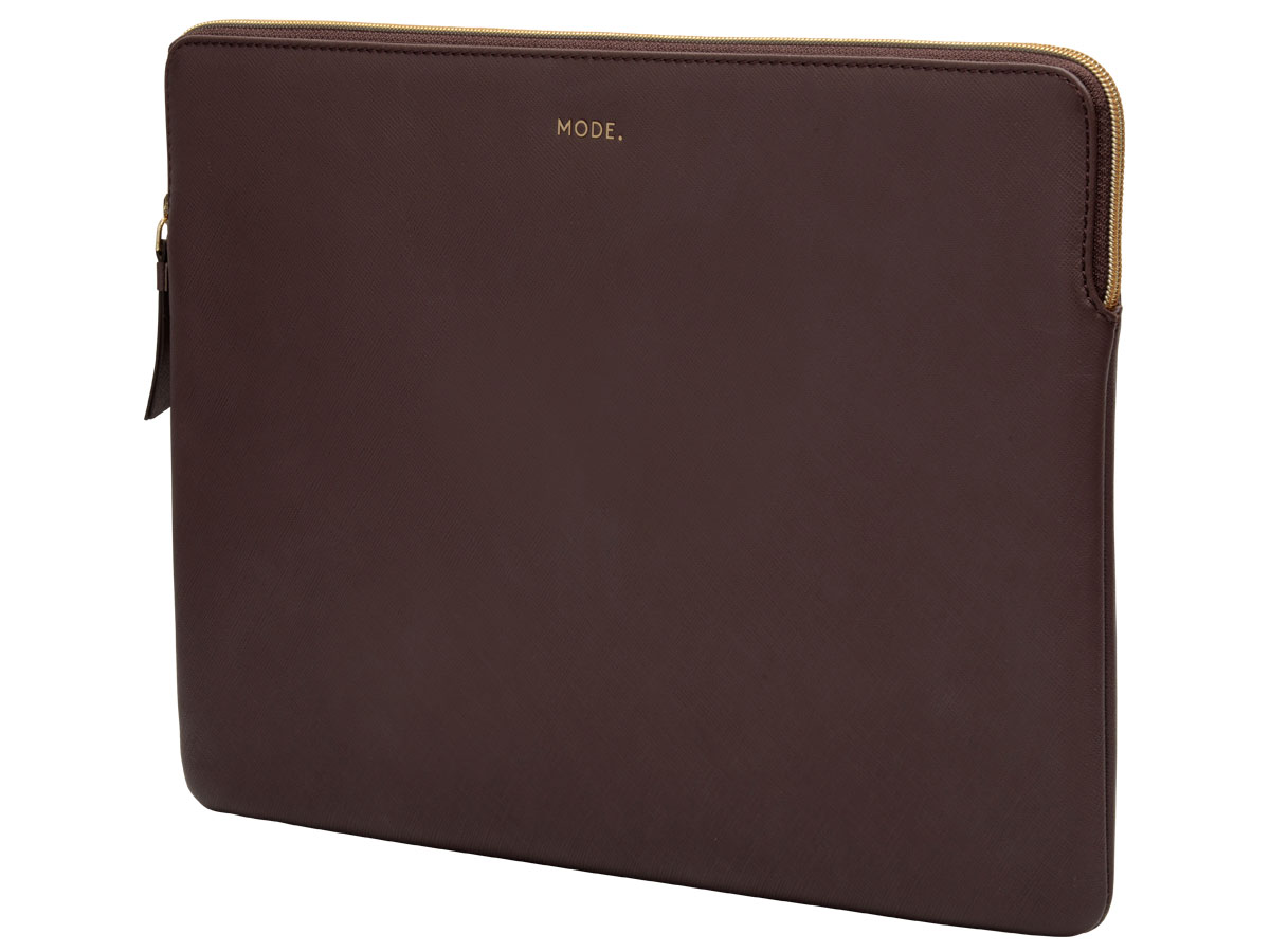 dbramante1928 MODE. Paris Sleeve Bruin Leer - MacBook Pro 16