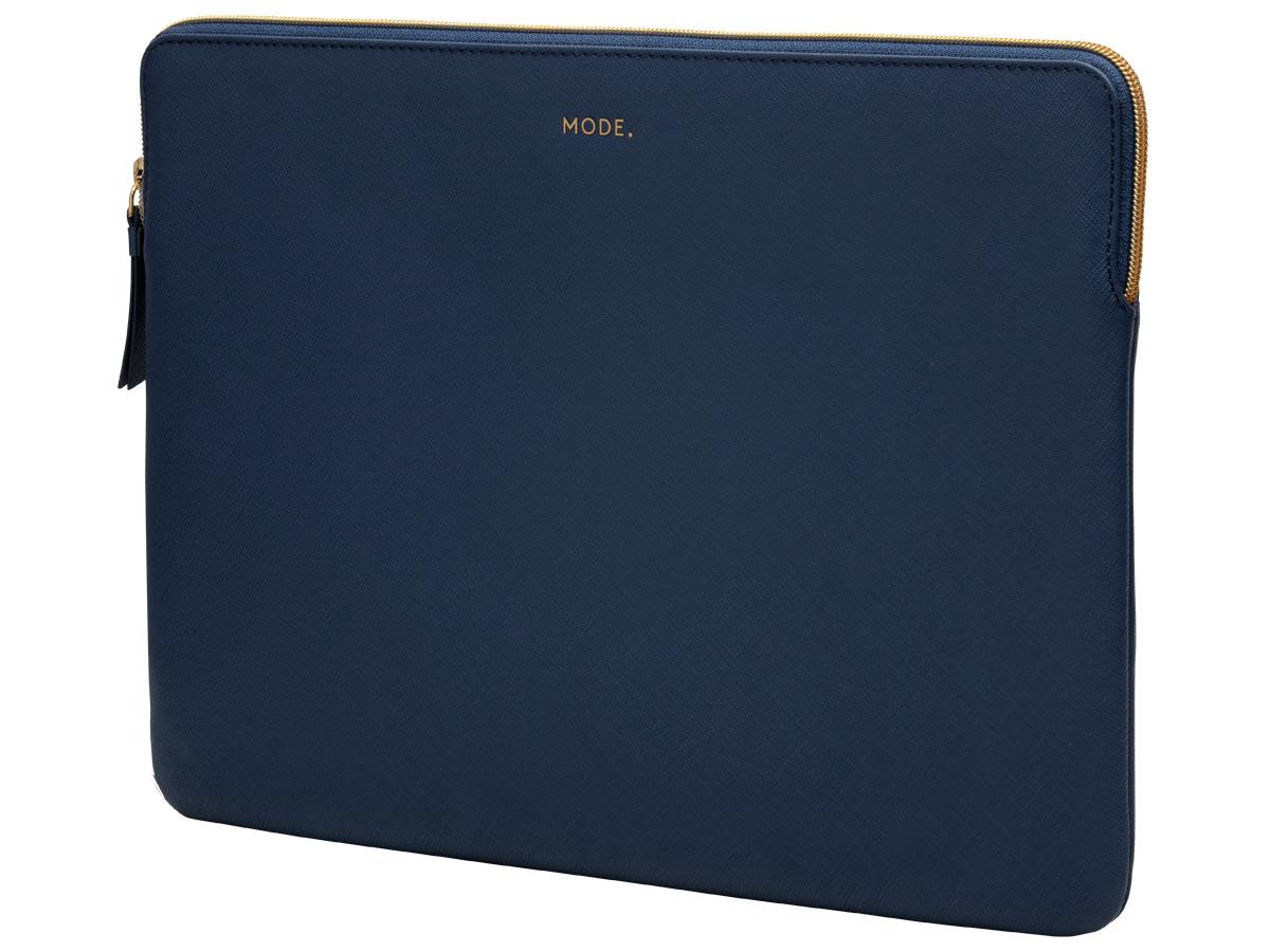 dbramante1928 MODE. Paris Sleeve Donkerblauw Leer - MacBook Pro 16