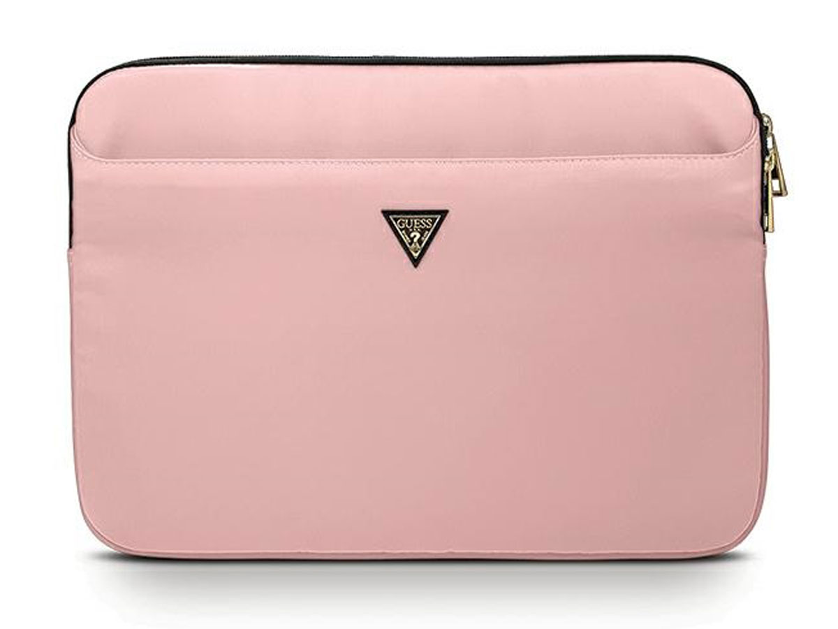 Guess Triangle Laptop Sleeve Roze - 13 inch MacBook Hoes