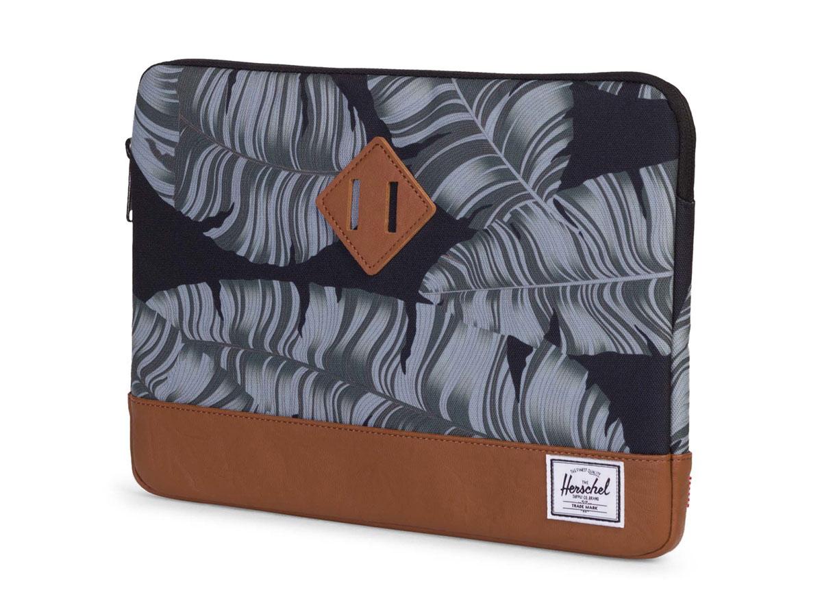 "Herschel Heritage Sleeve Black Palm - MacBook Air/Pro 13"" USB-C Hoes Zwart"