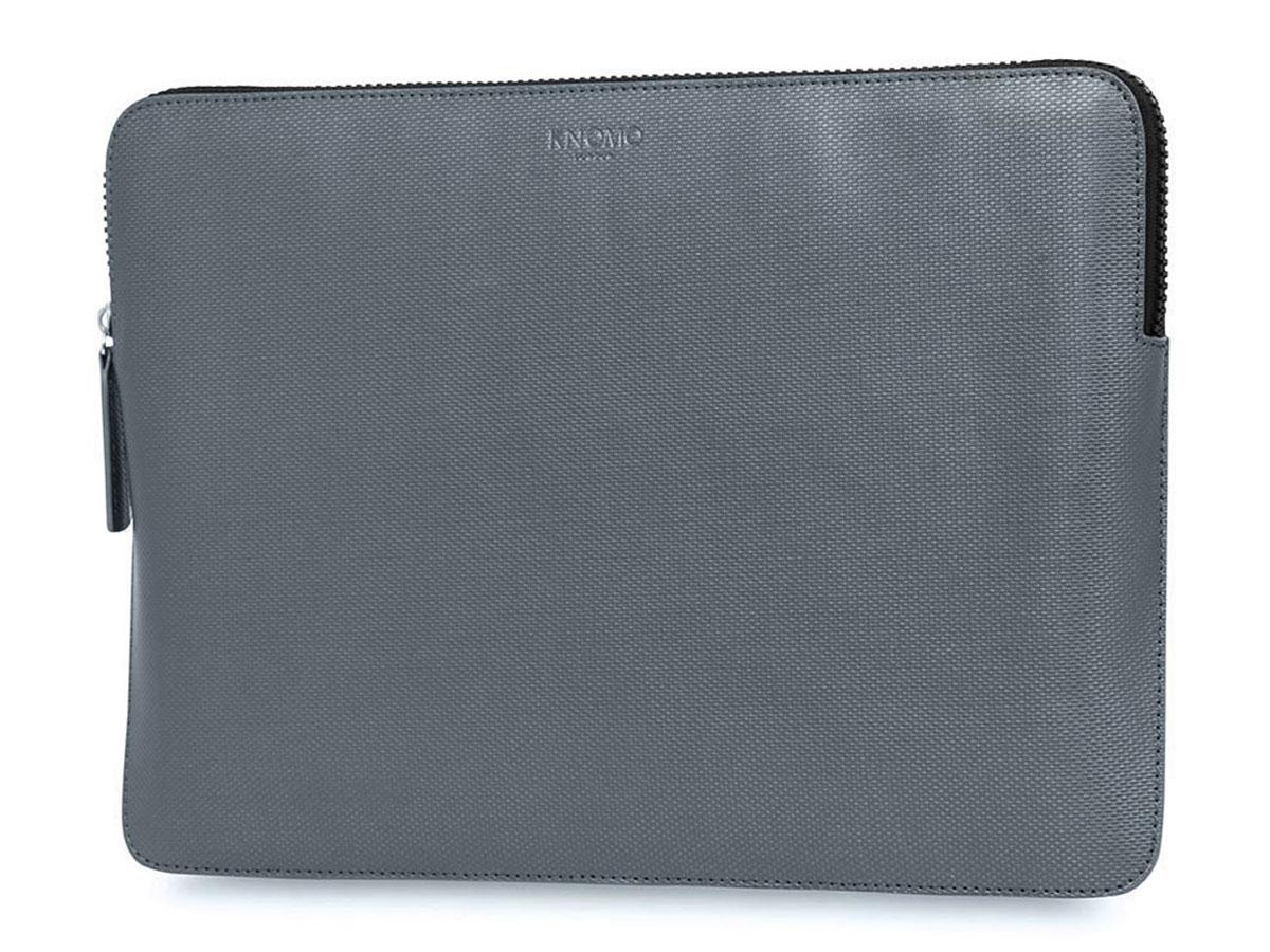 """Knomo Embossed Sleeve Silver - MacBook Pro 15""""/16"""" Hoes Grijs"""