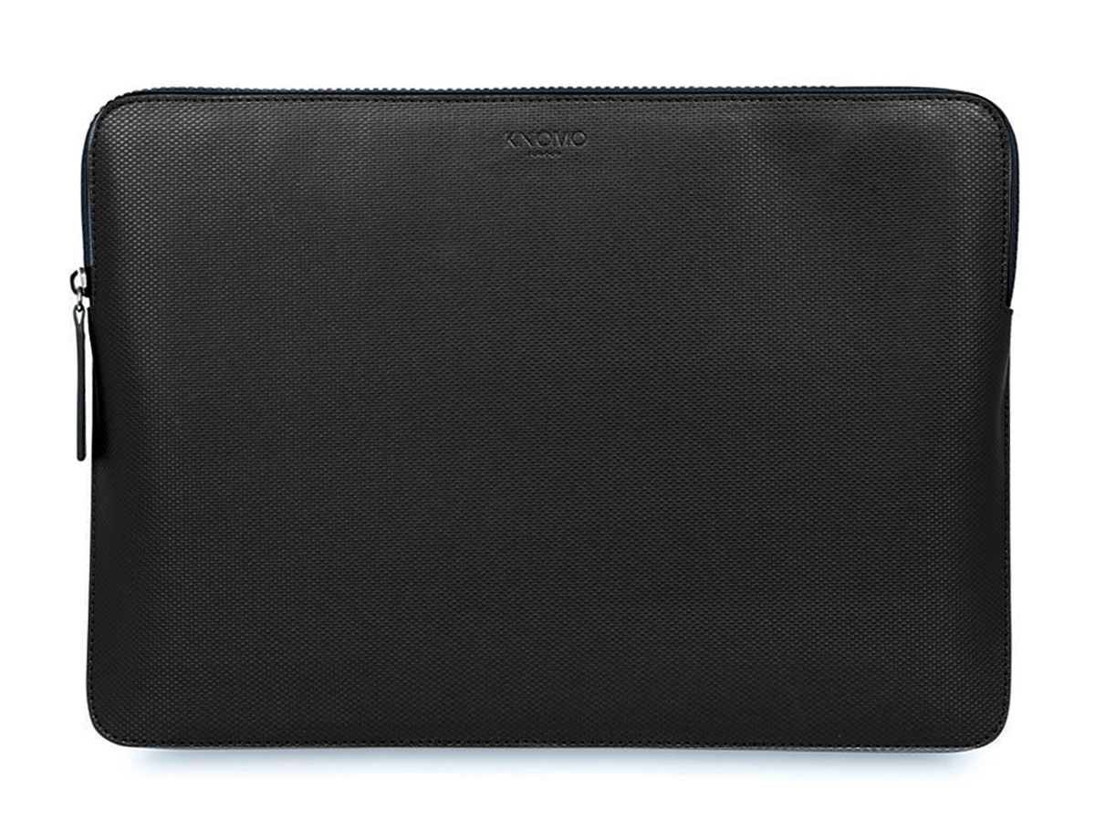 Knomo Embossed Sleeve Zwart - MacBook Pro 15