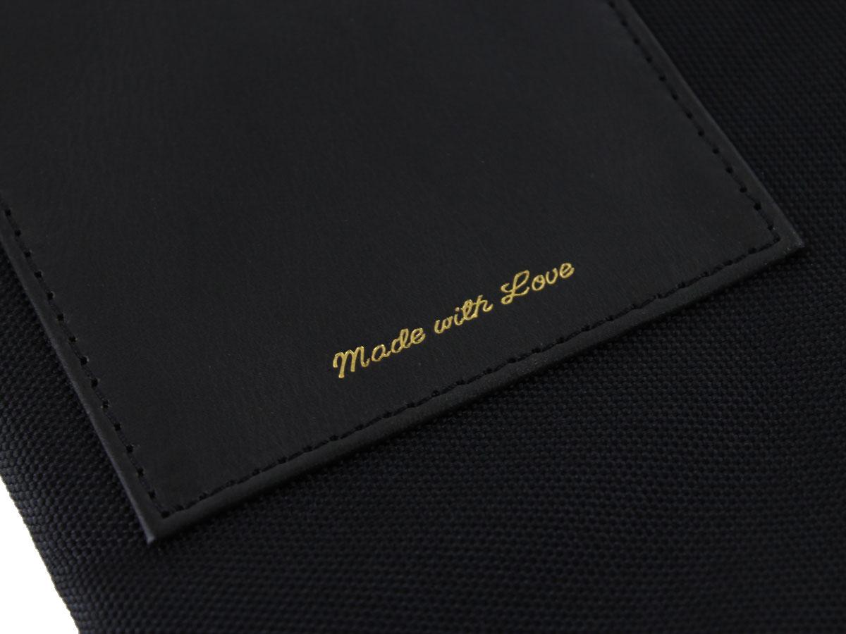 428ad4fa7fd Scotch & Soda Leather Nylon Laptop Sleeve Zwart