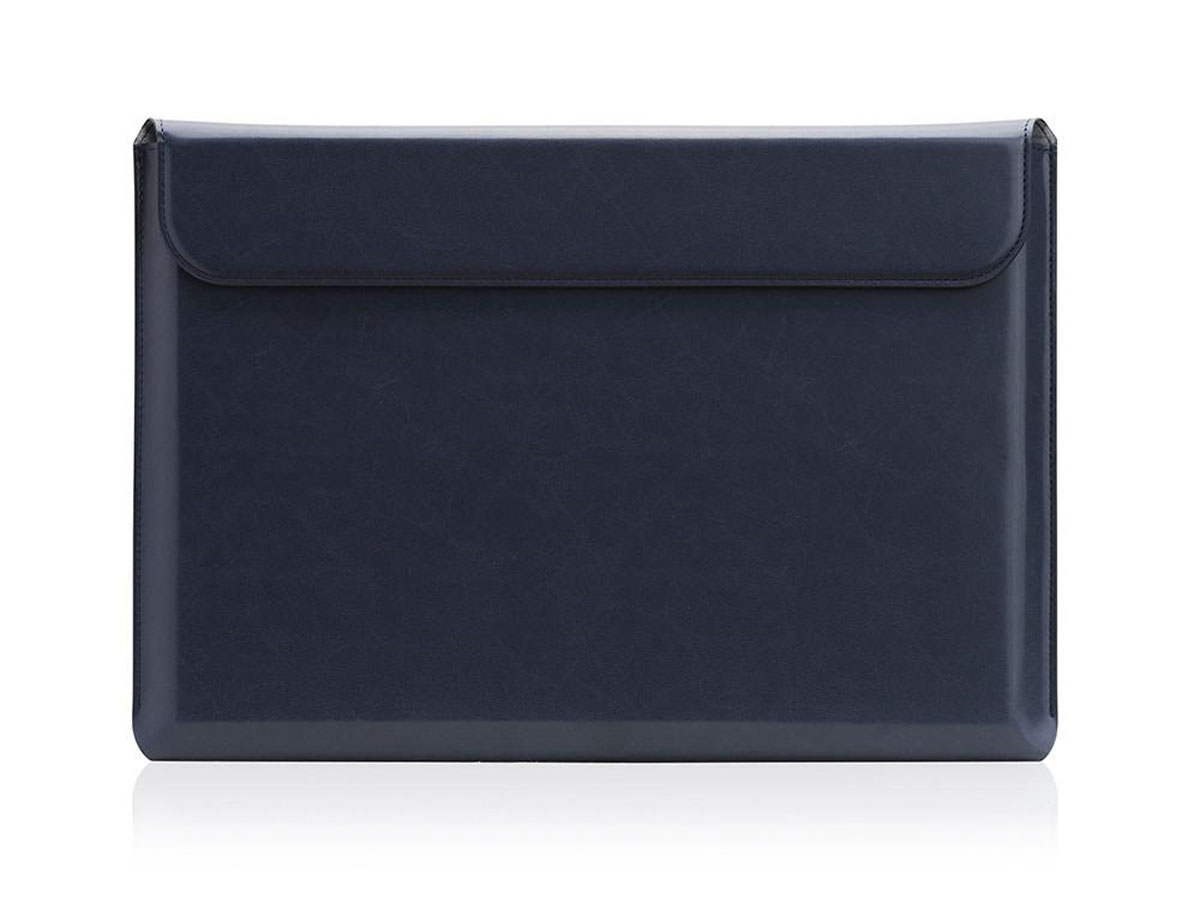 """SLG D5 CAL Pouch Navy Leer - MacBook Pro 15""""/16"""" Sleeve Donkerblauw"""