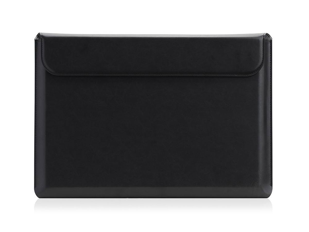 """SLG D5 CAL Pouch Zwart Leer - MacBook Pro 15""""/16"""" Sleeve"""