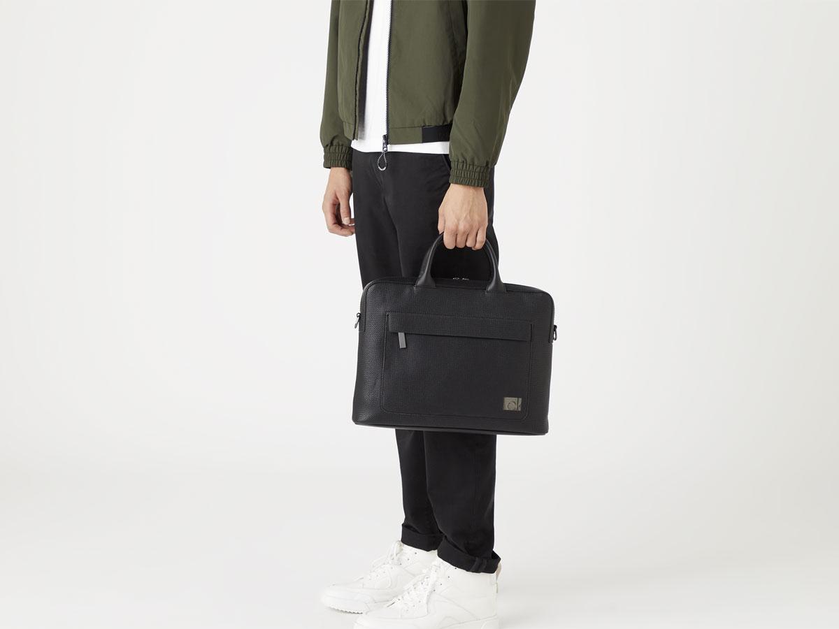 Calvin Klein Laptop Bag Textured - Laptoptas Zwart