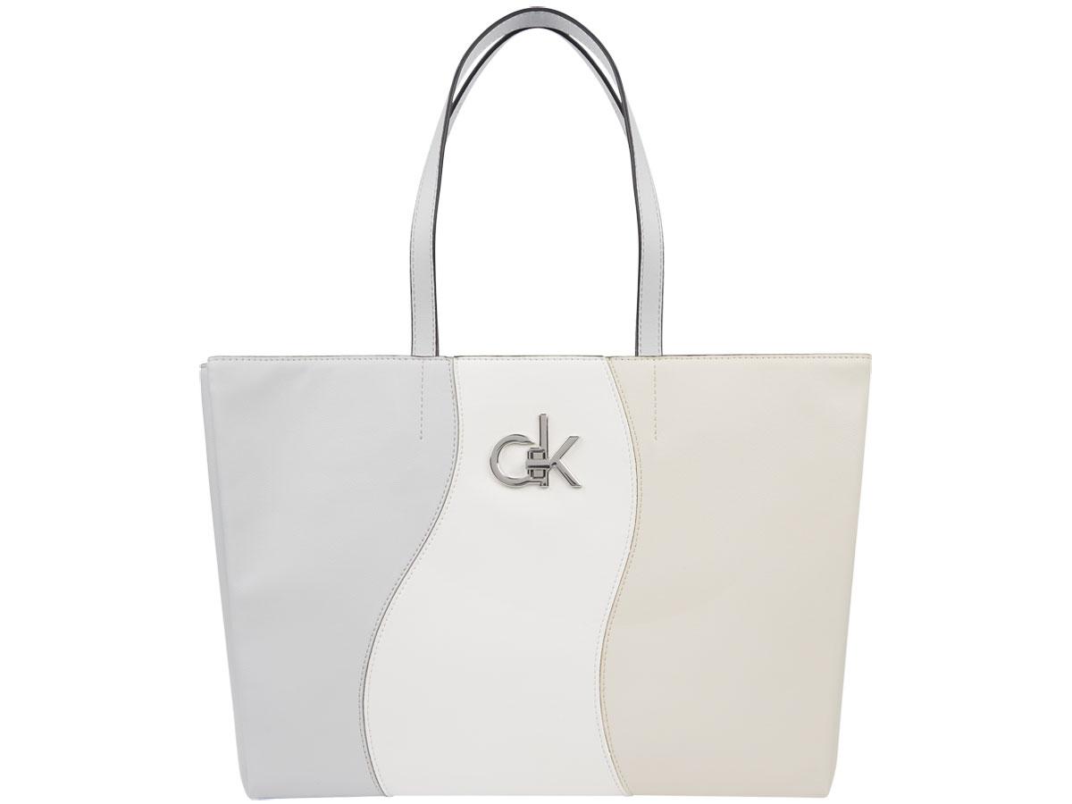 Calvin Klein Laptop Tote Patchwork - Shopper met Laptopvak