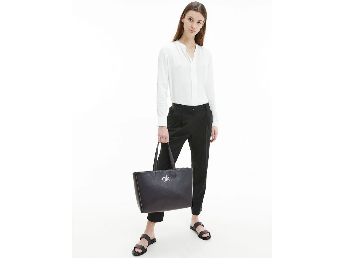 Calvin Klein Laptop Tote - Shopper Uitneembare Laptopsleeve (Zwart)