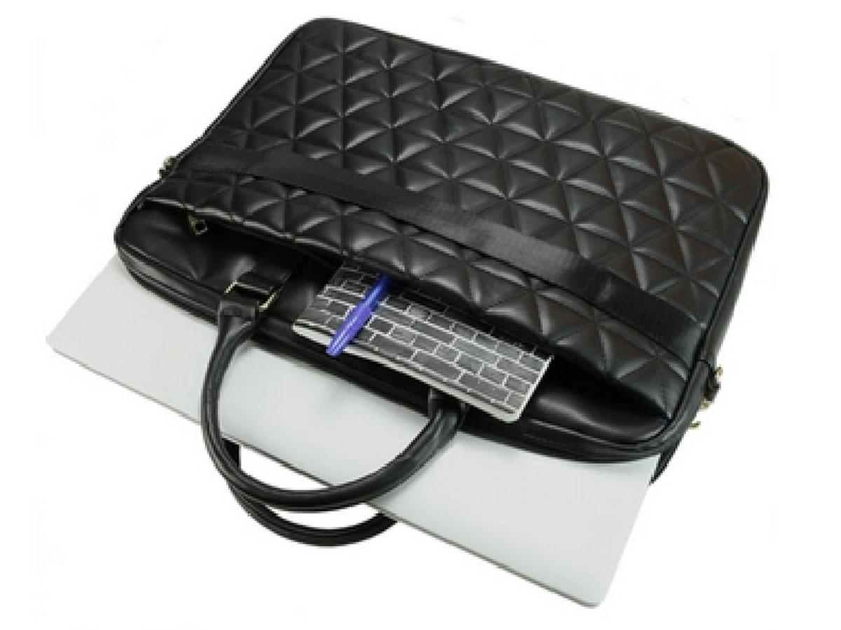 Guess Quilted Laptop Bag Zwart - Laptoptas tot 15 inch