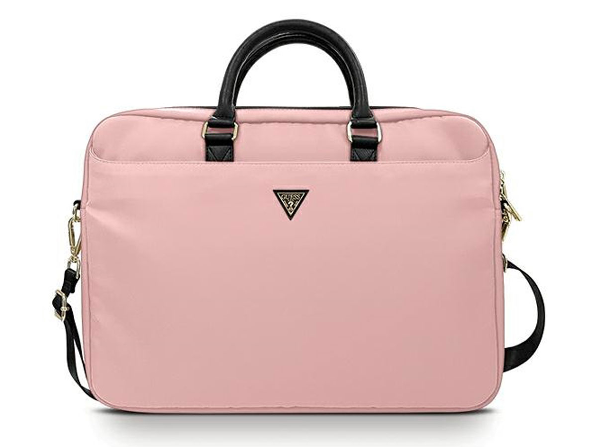 Guess Triangle Laptop Bag Roze - Laptoptas tot 16 inch