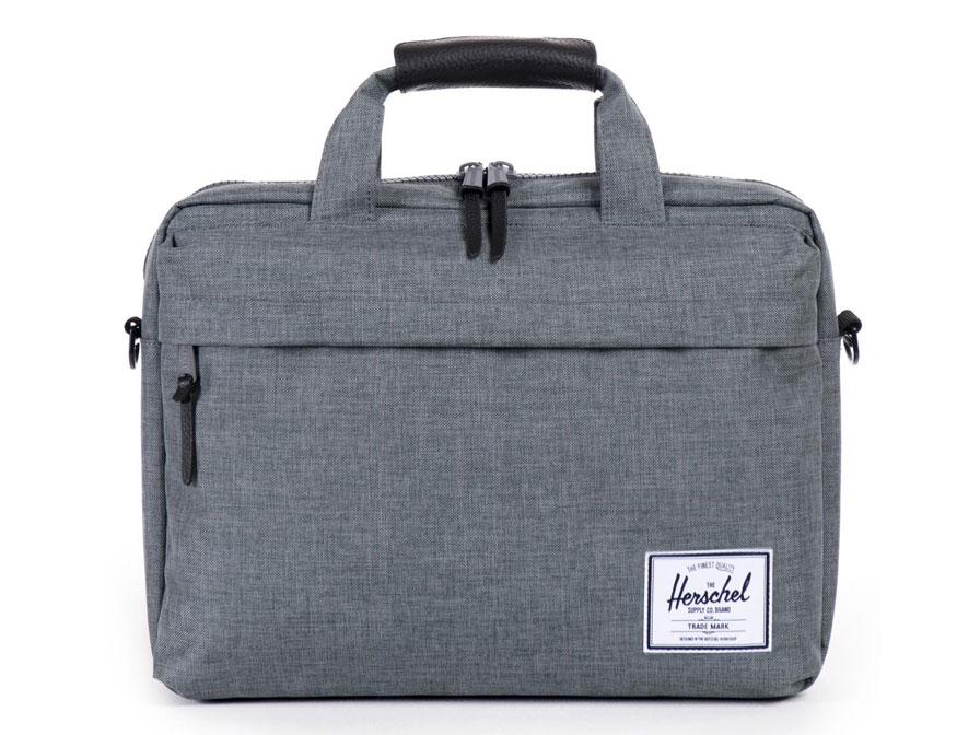 Herschel Clark Messenger Laptoptas tot 15 inch (Charcoal Crosshatch)