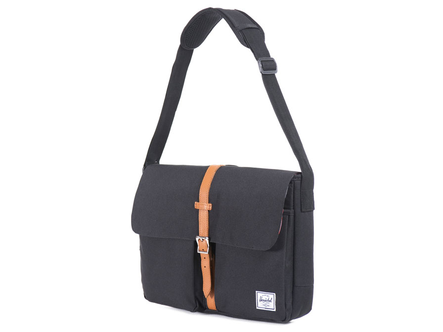 Herschel Columbia Messenger Laptoptas tot 15 inch (Black/Tan)
