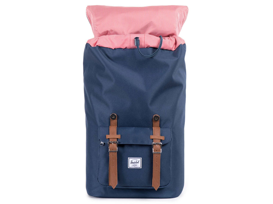 Herschel Little America Rugzak met 15 inch Laptopvak (Navy/Tan)
