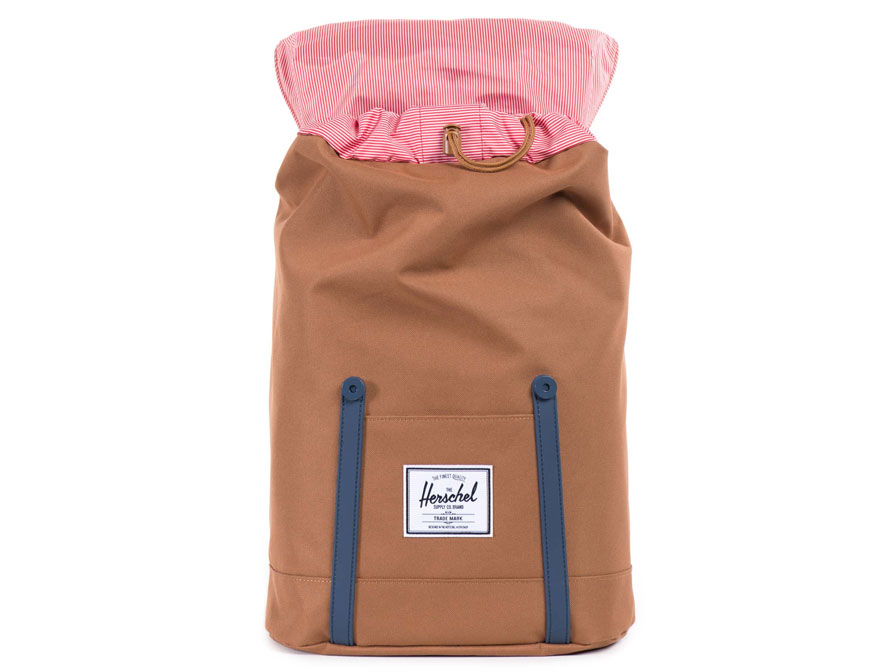 Herschel Retreat Rugzak met 15 inch Laptopvak (Caramel/Navy)
