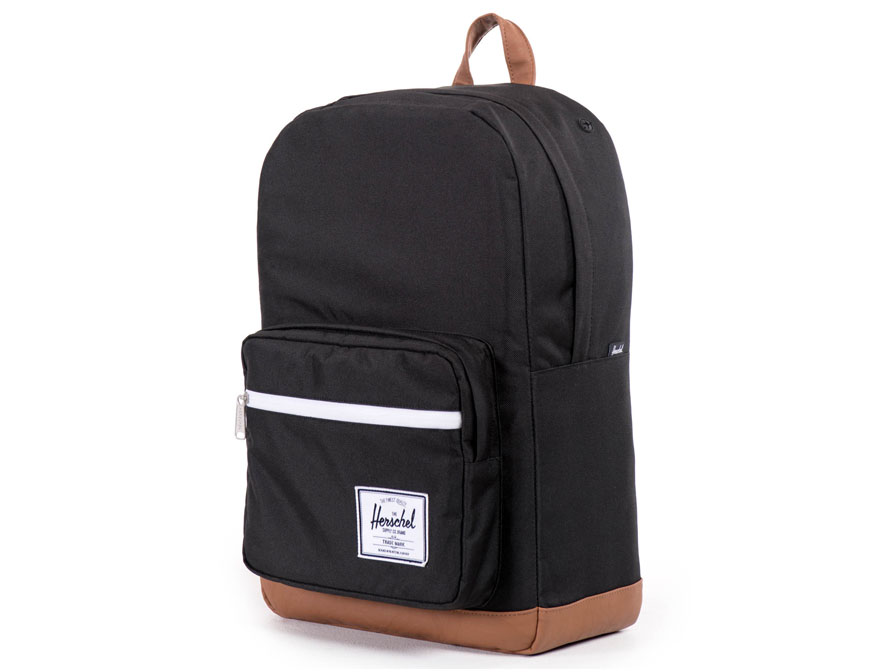 Herschel Pop Quiz BackPack Rugzak met 15 inch Laptopvak (Black/Tan)